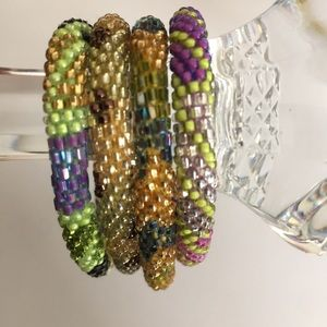 Jewelry - Set of 4 Multicolored Bracelets